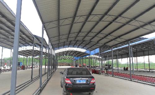 钢结构车棚1 - 上海鸿域建筑工程有限公司无锡分公司